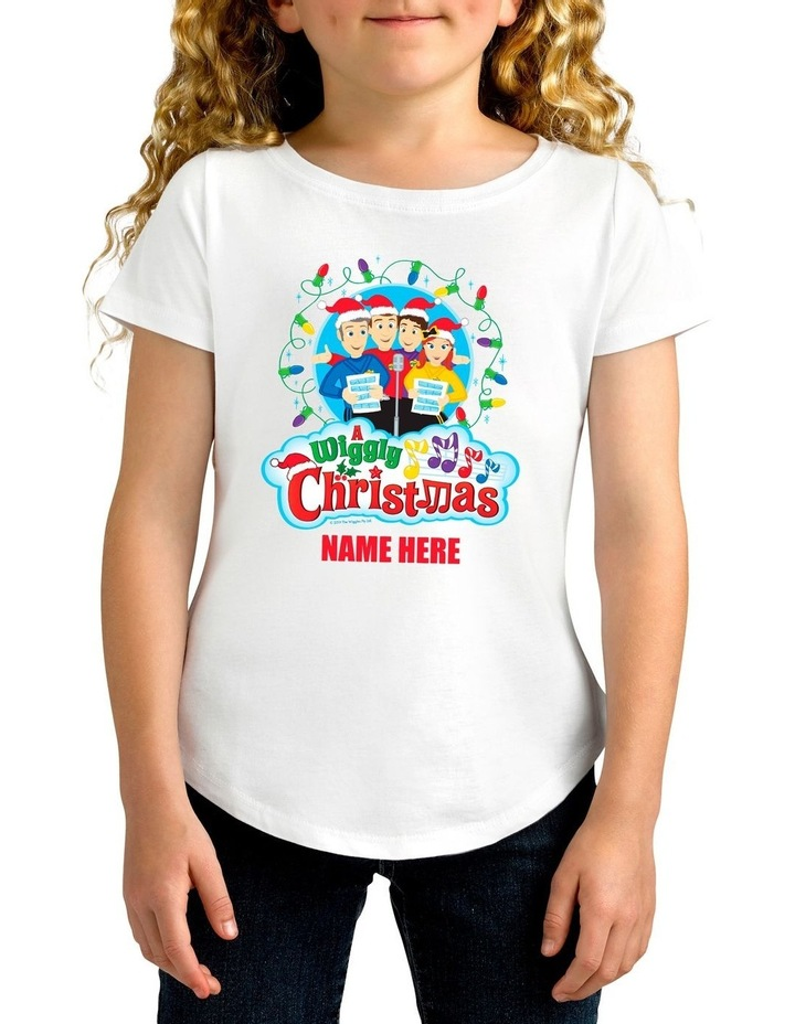 Girl's The Wiggles Xmas Personalised Cotton T-Shirt image 1