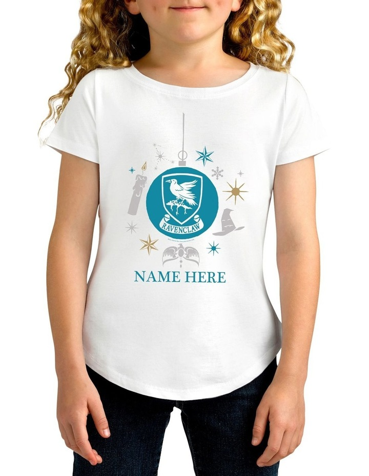 Girl's Harry Potter Ravenclaw Xmas Personalised Cotton T-Shirt image 1