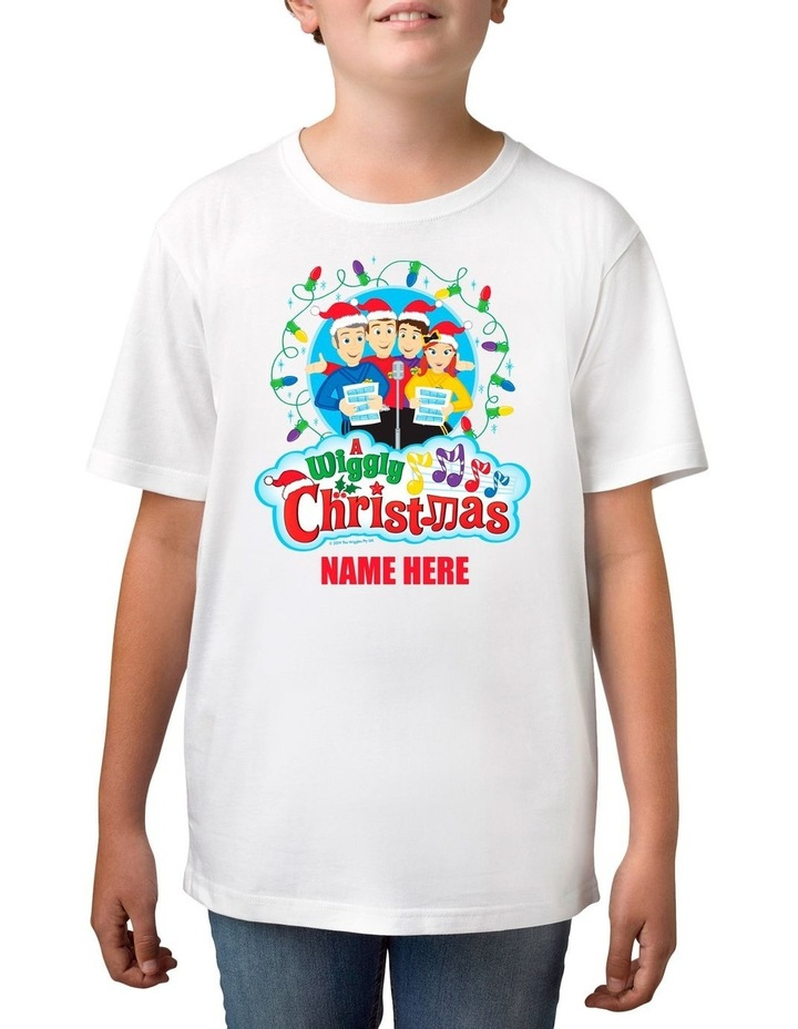 Boy's The Wiggles Xmas Personalised Cotton T-Shirt image 1
