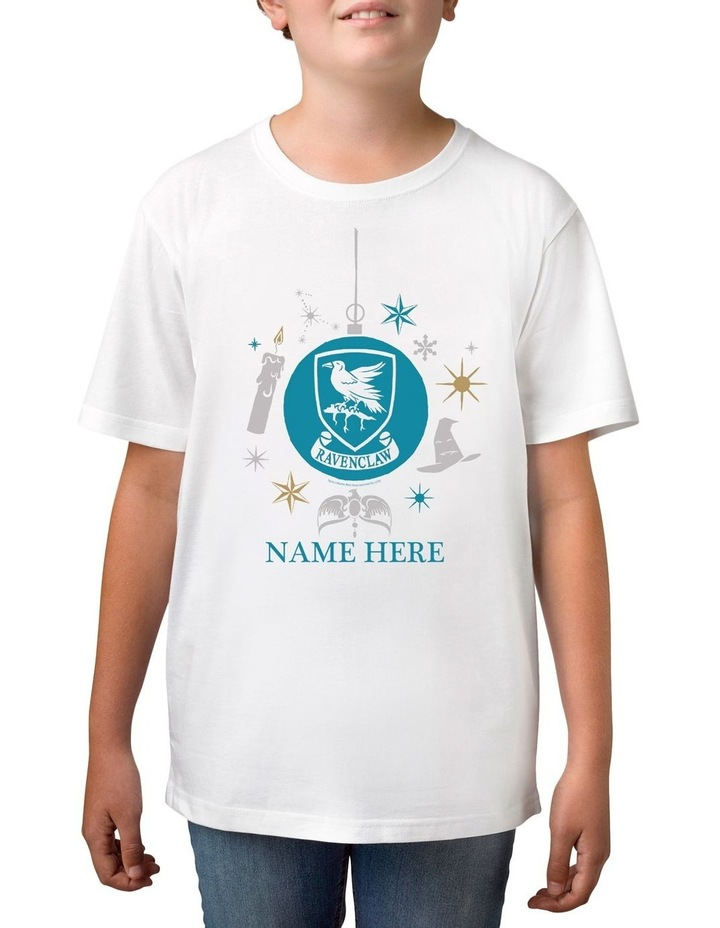 Boy's Harry Potter Ravenclaw Xmas Personalised Cotton T-Shirt image 1