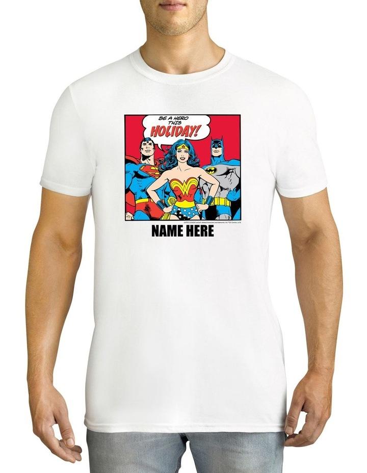 Twidla Men's DC Comics Holiday Personalised Cotton T-Shirt image 1