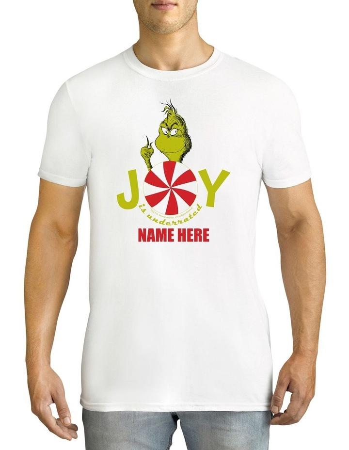 Twidla Men's Dr Seuss The Grinch Joy Personalised Cotton T-Shirt image 1