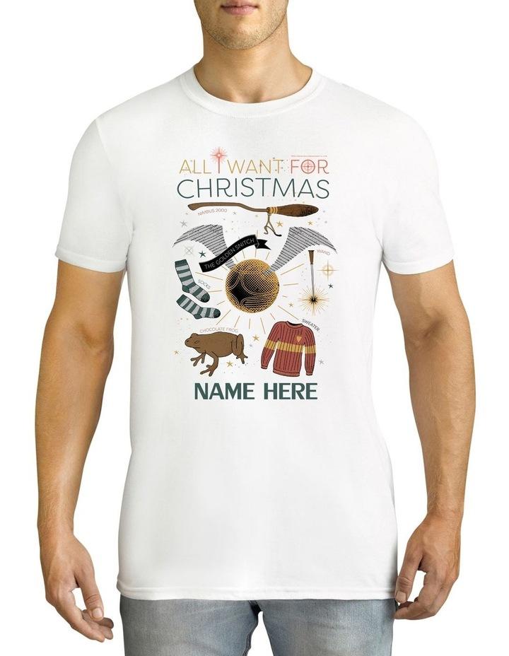 Twidla Men's Harry Potter Xmas Personalised Cotton T-Shirt image 1