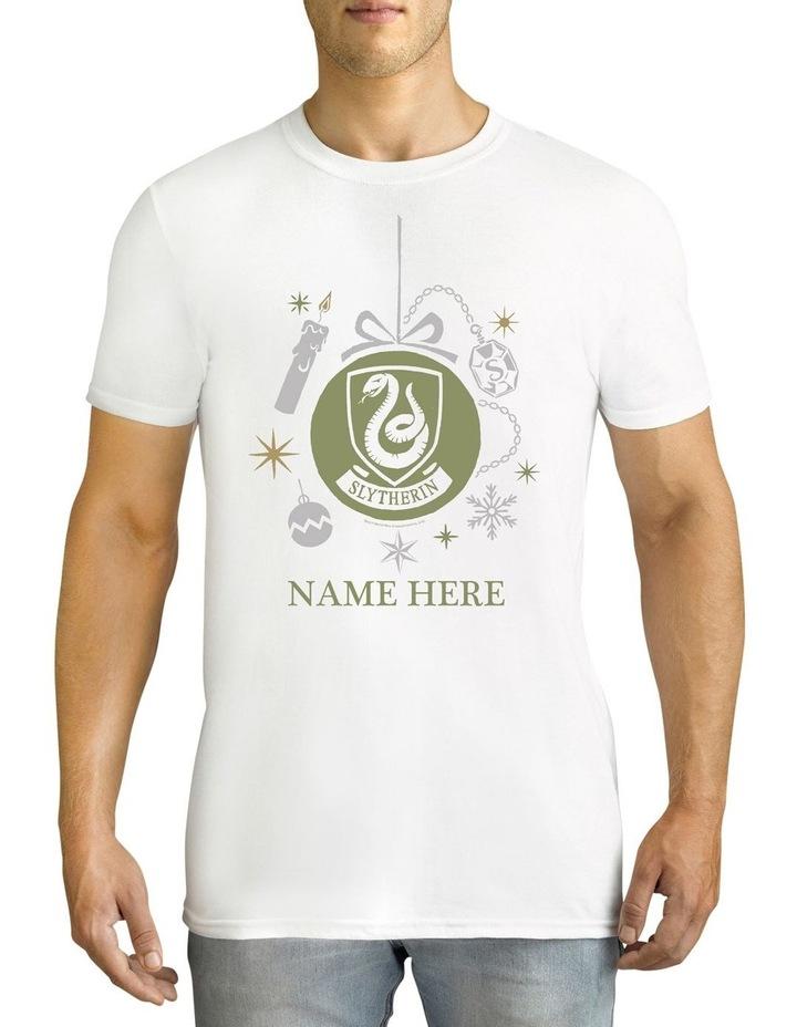Twidla Men's Harry Potter Slytherin Xmas Personalised Cotton T-Shirt image 1
