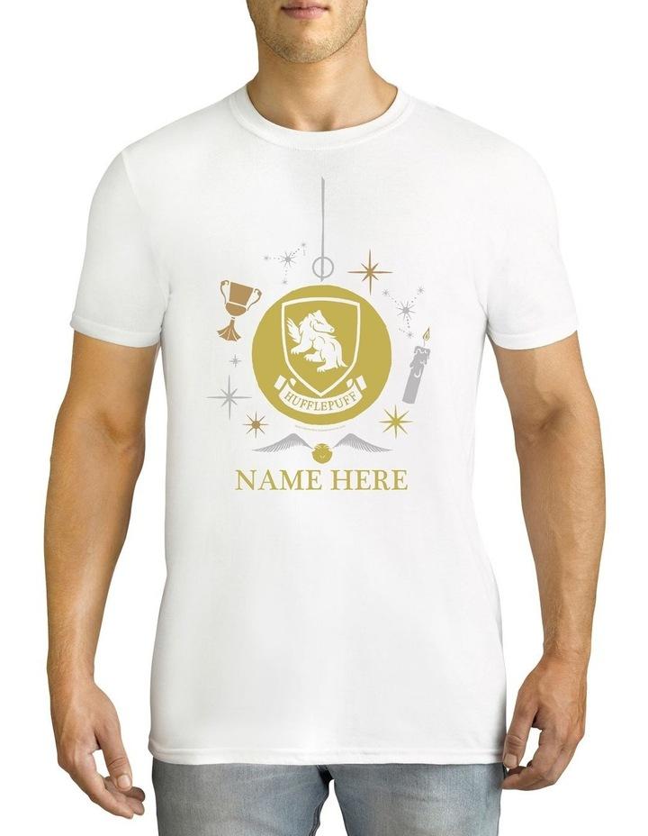 Twidla Men's Harry Potter Hufflepuff Xmas Personalised Cotton T-Shirt image 1