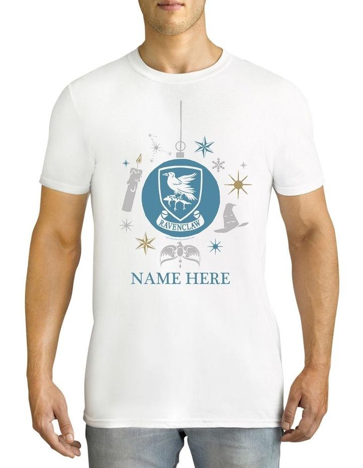 Twidla Men's Harry Potter Ravenclaw Xmas Personalised Cotton T-Shirt image 1