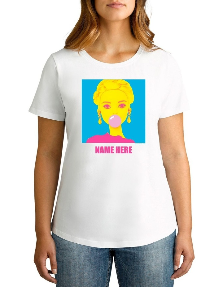 Women's Barbie Cool Personalised Cotton T-Shirt image 1