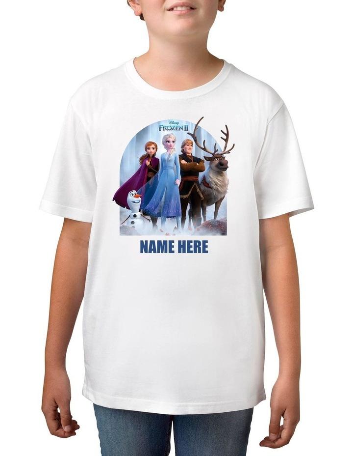 Boy's Frozen 2 Personalised Cotton T-Shirt image 1