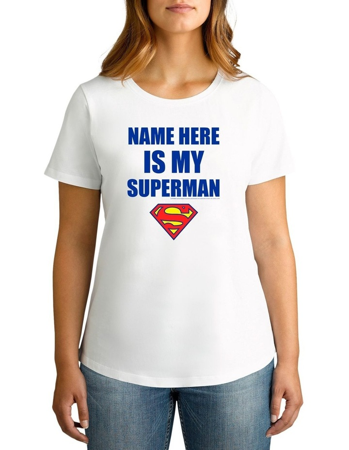 Women's Valentine's Day My Superman Personalised Cotton T-Shirt image 1