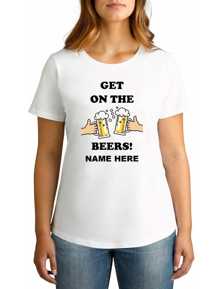 Women's Covid Beers Personalised Cotton T-Shirt image 1
