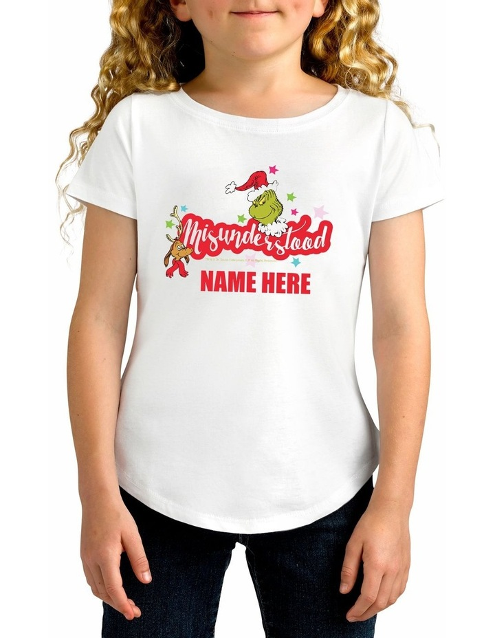 Girl's Dr Seuss Misunderstood Personalised Cotton T-Shirt image 1