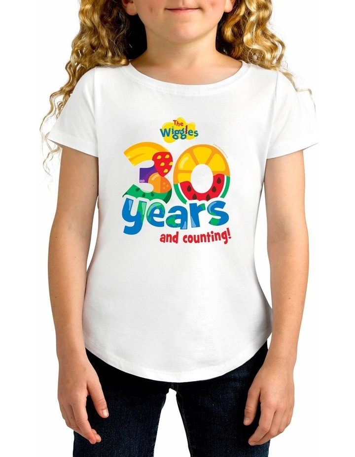 Girl's The Wiggles 30 years Personalised Cotton T-Shirt image 1