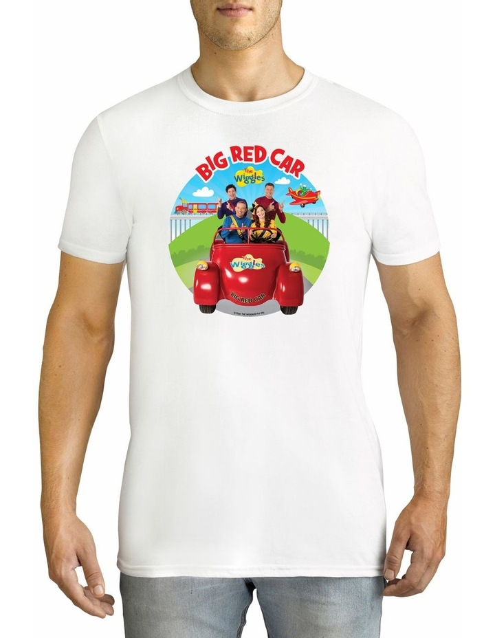 Men's The Wiggles Big Red Car 2021 Personalised Cotton T-Shirt image 1