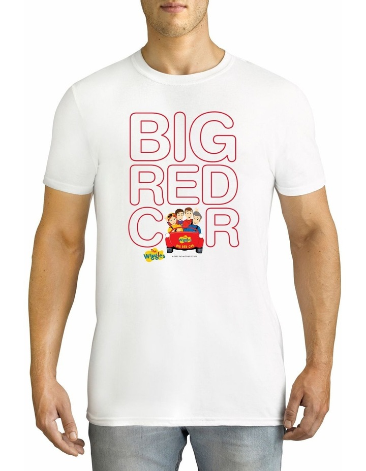 Men's The Wiggles Big Red Car Personalised Cotton T-Shirt image 1