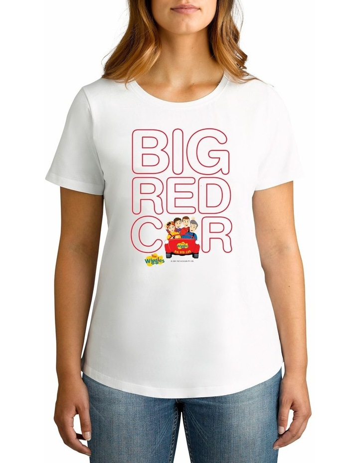 Women's The Wiggles Big Red Car Personalised Cotton T-Shirt image 1