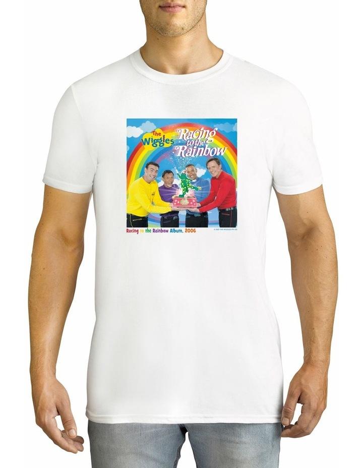 Twidla Men's The Wiggles Racing Rainbow Personalised Cotton T-Shirt image 1
