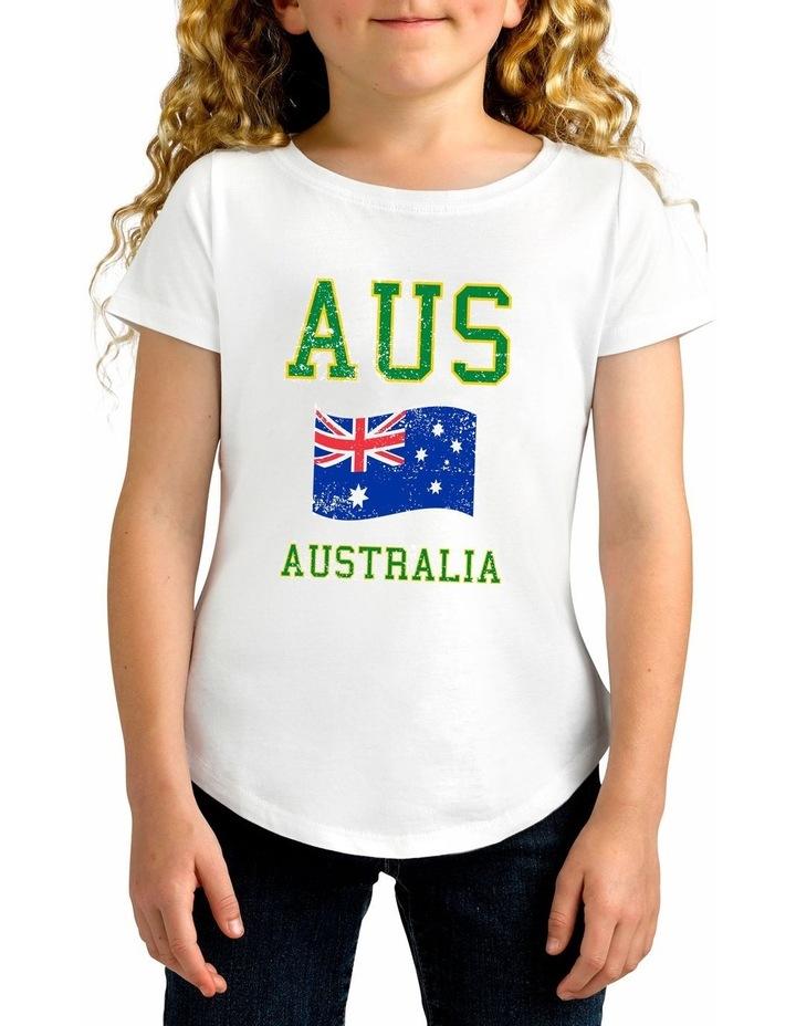 Twidla Girl's Collegiate Australia Cotton T-Shirt image 1