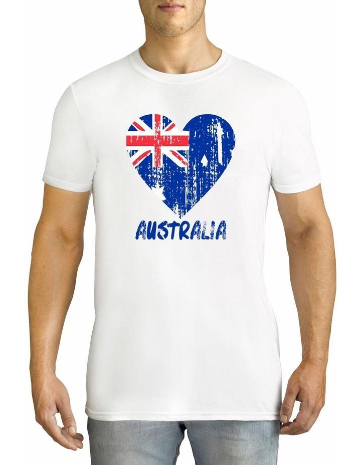 Twidla Men's Australia Flag Cotton T-Shirt image 1