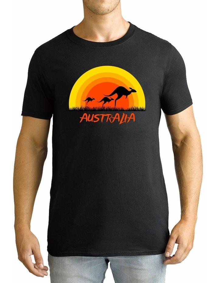 Twidla Men's Sunset Kangaroo Cotton T-Shirt image 1