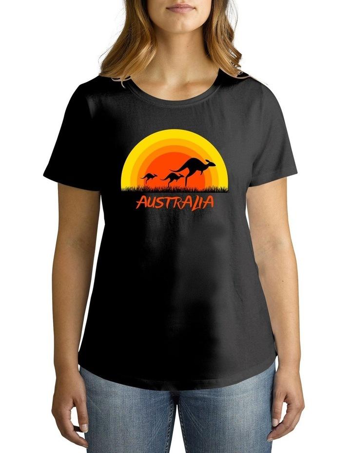 Twidla Women's Sunset Kangaroo Cotton T-Shirt image 1
