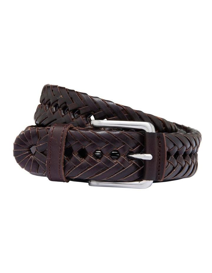 Rodel Brown Braided Belt image 1