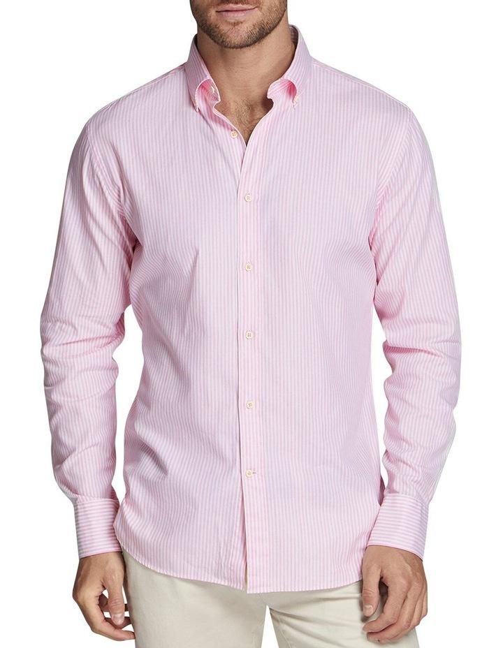 Godric Stripe Shirt Pink/White image 1