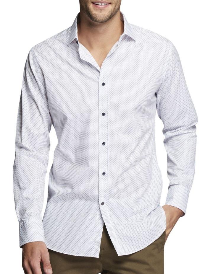 Ballen Printed Shirt White/Blue image 1