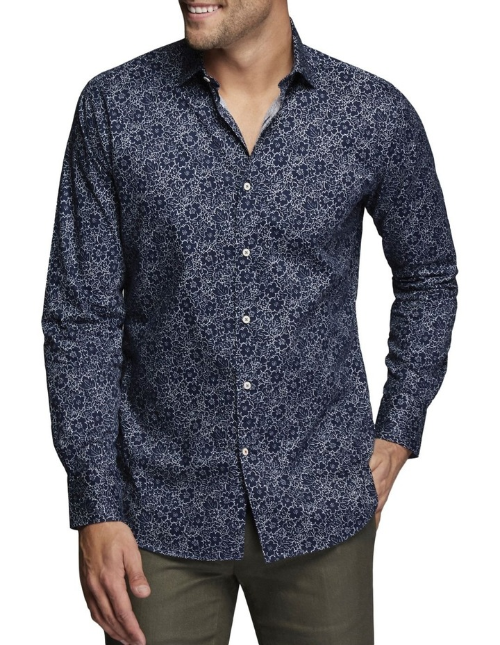 Angus Floral Shirt Midnight/White image 1