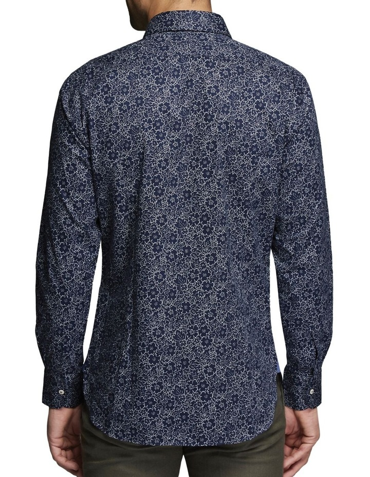 Angus Floral Shirt Midnight/White image 2