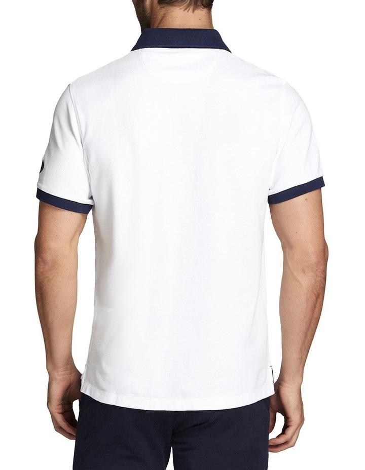 Burleigh Heads Polo White/Navy image 2