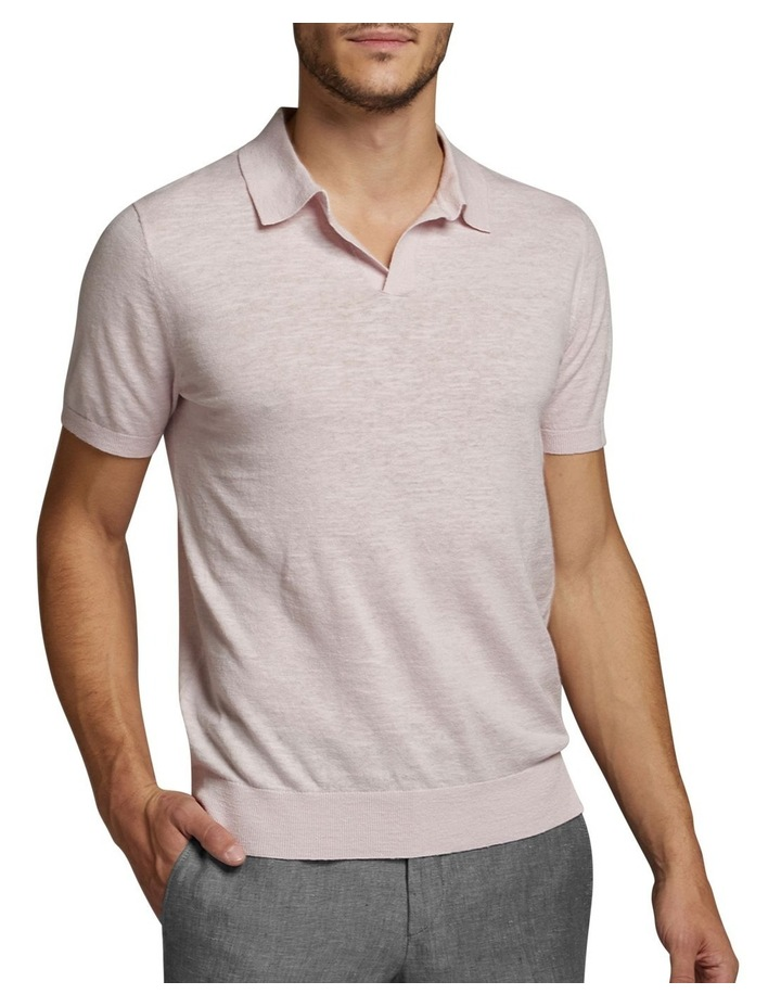Dickie Knit Polo Pink image 1