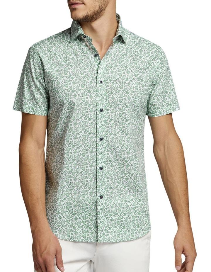 Afton Short Sleeve Shirt Green/White image 1