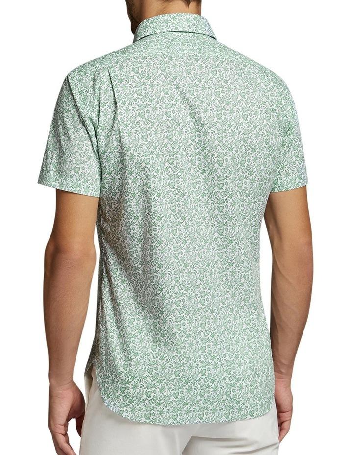 Afton Short Sleeve Shirt Green/White image 2