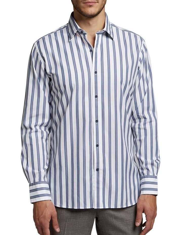 Marcel Double Stripe Shirt Grey/White image 1