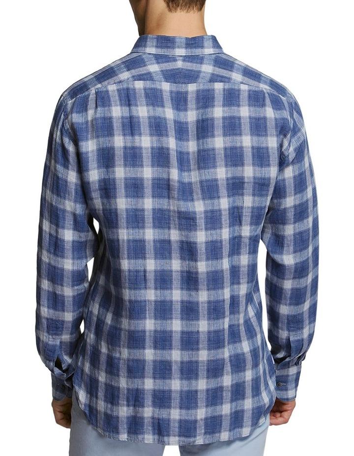 Jaume Check Shirt Navy/White image 2