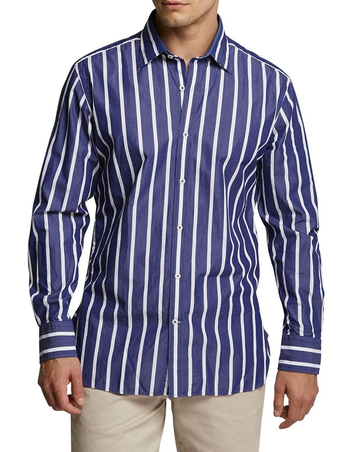 Snapperman Stripe Shirt Navy/White image 1