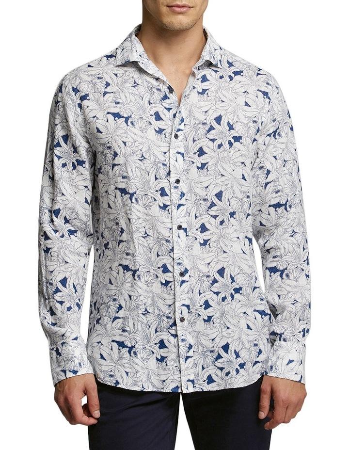 Hibiscus Print Shirt Blue/White image 1