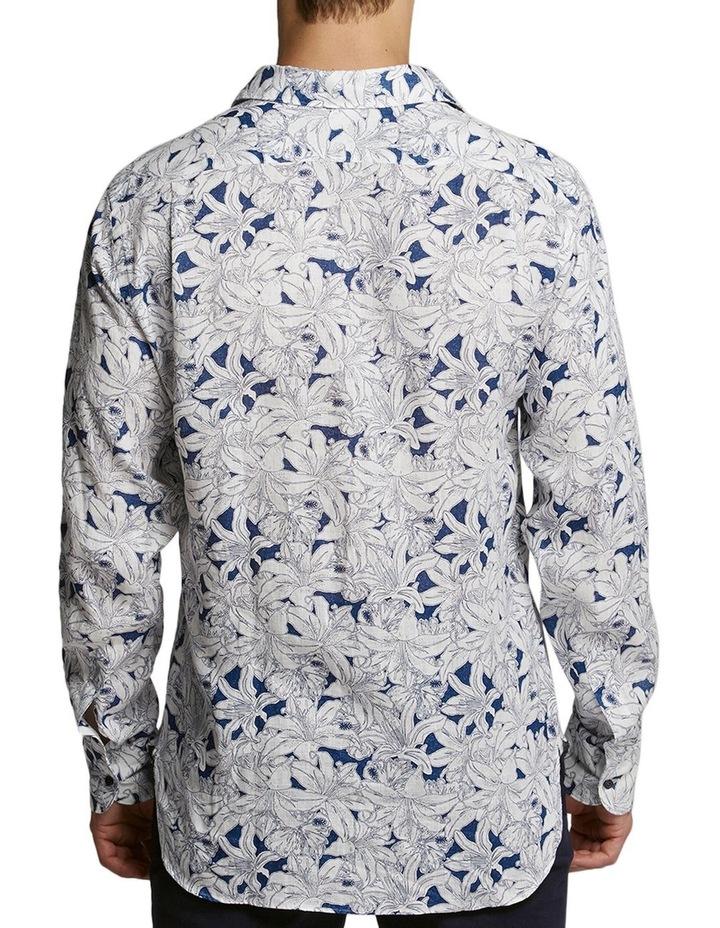 Hibiscus Print Shirt Blue/White image 2
