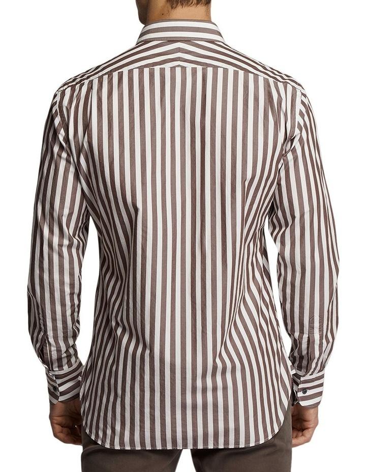 Princeston Stripe Shirt Brown/White image 2