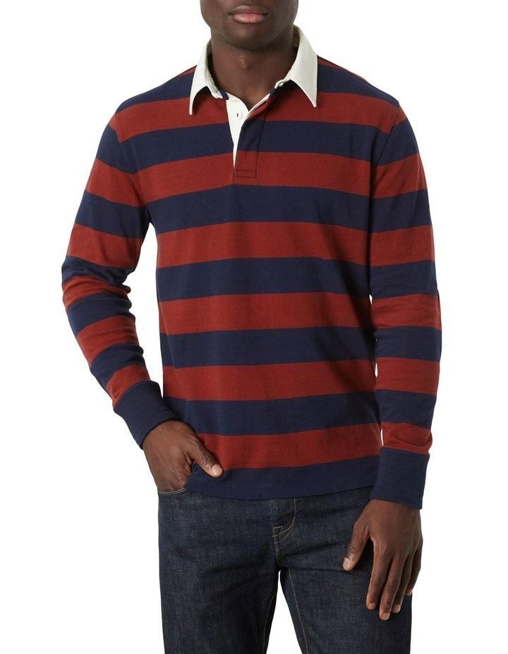 M.J. Bale Lockey Stripe LS Rugby Polo image 1