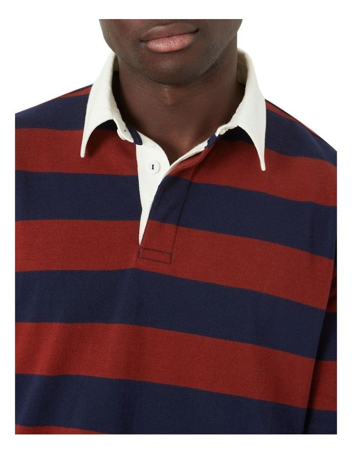 M.J. Bale Lockey Stripe LS Rugby Polo image 3