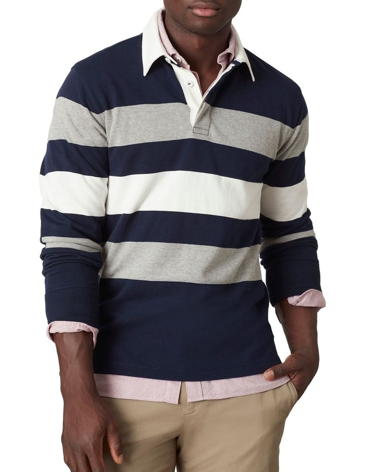 Cooper Stripe LS Rugby Polo image 1
