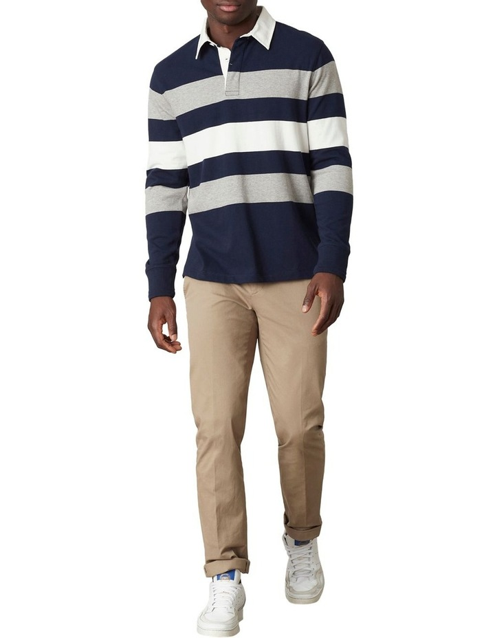 Cooper Stripe LS Rugby Polo image 2