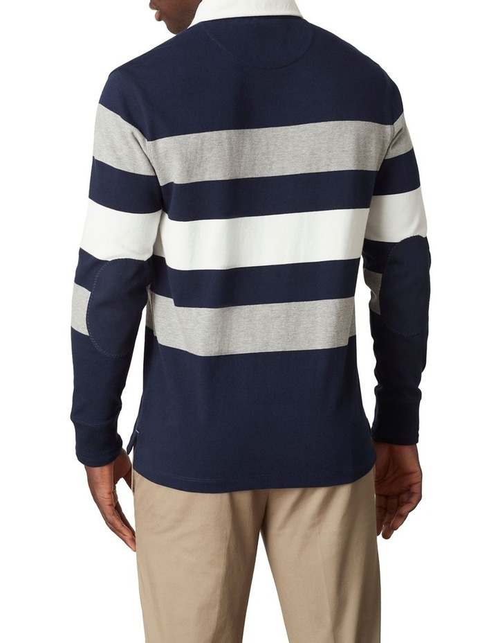 Cooper Stripe LS Rugby Polo image 3