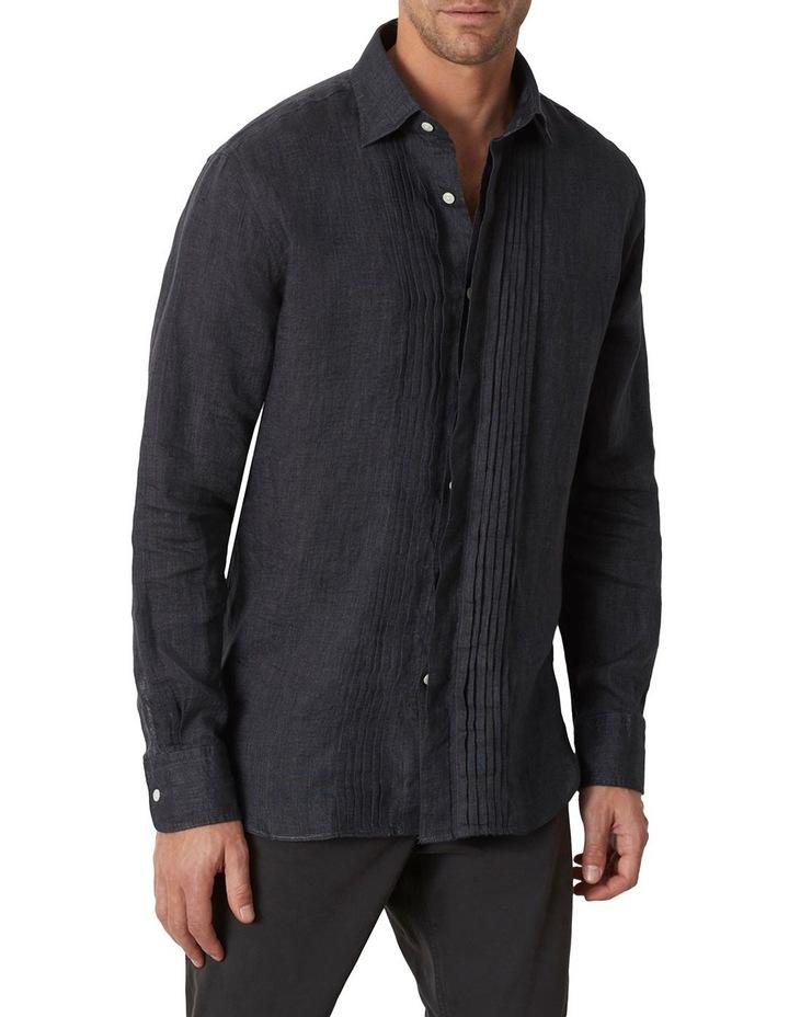 M.J. Bale Bradfield Tuxedo Linen Shirt image 1