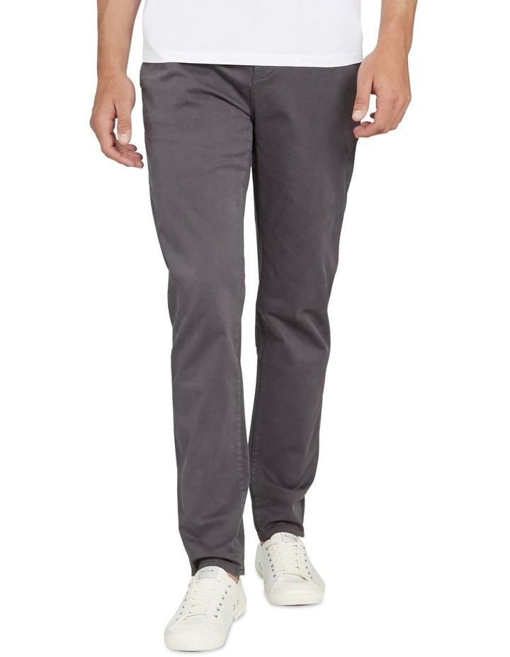 Regular Fit Stretch Chino Pant Charcoal image 1