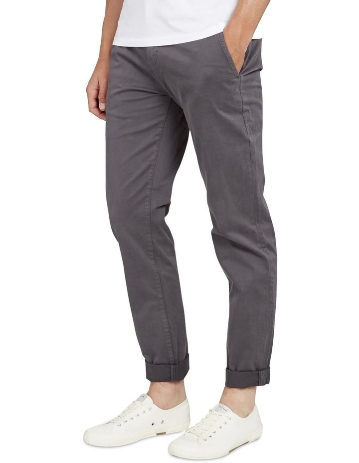 Regular Fit Stretch Chino Pant Charcoal image 2