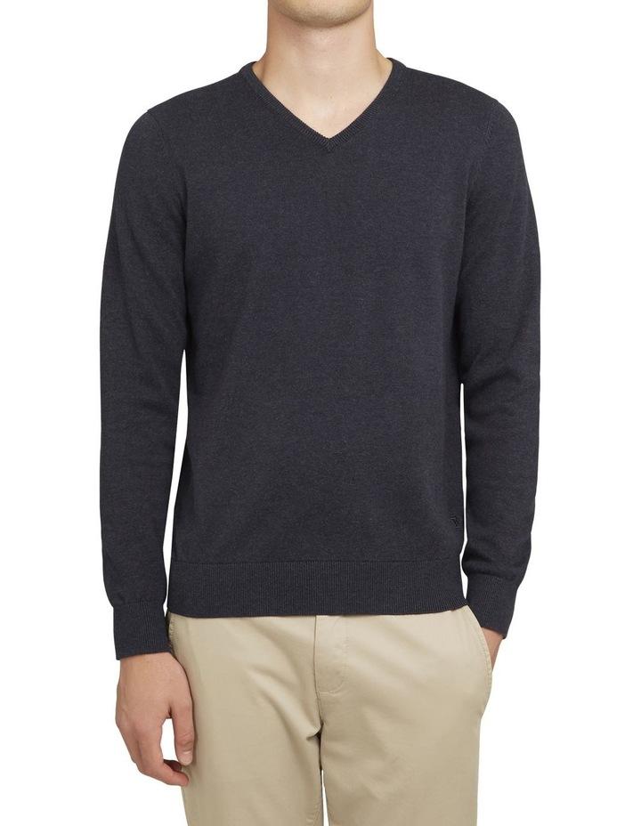 Cotton V Neck Knit image 1