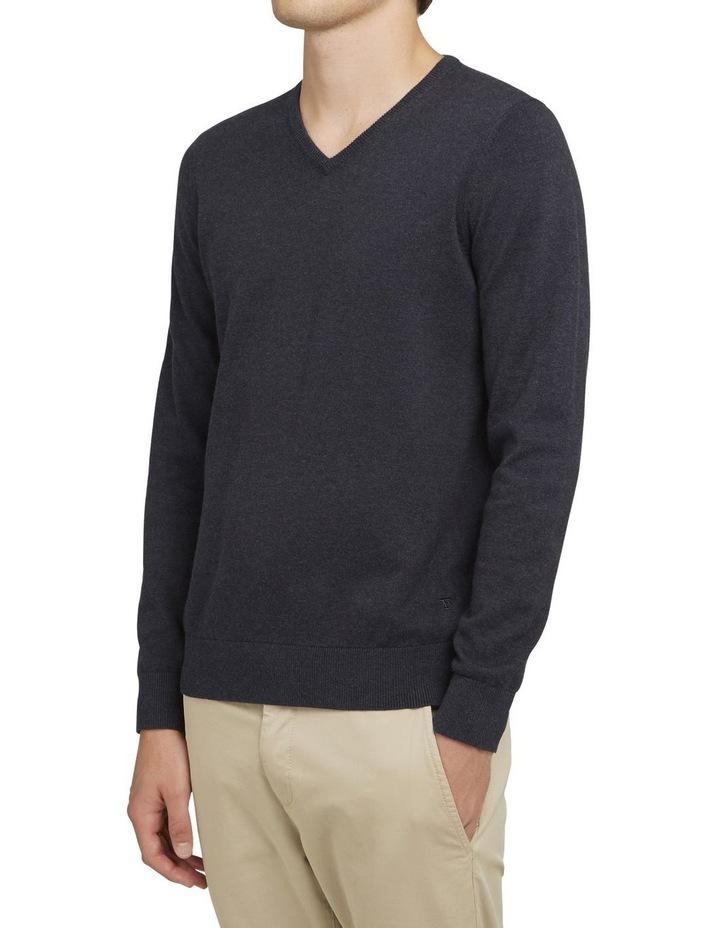 Cotton V Neck Knit image 2