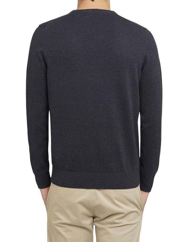 Cotton V Neck Knit image 3